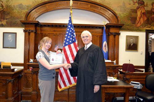 Charlotte with Honorable Judge Robert Walker